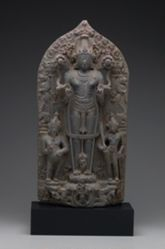 Sun God Surya with Adityas, Attendants, and Wives