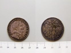 1 Testone of Unknown; Tommaso Mercandetti; Pope Alexander VIII from Rome