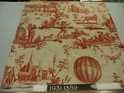 """Length of printed cotton, """"Le Ballon de Gonesse"""""""