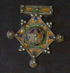 Trident Pendant with Cloisonne (Walata-Idye)