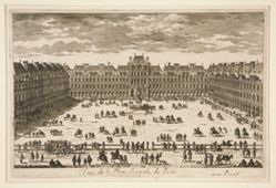 Vue de Place Royale de Paris