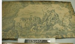 """Length of printed linen, """"Neptune, God of the Sea"""""""