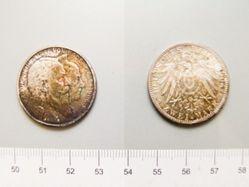 2 Marks of Friedrich I, Großherzog von Baden from Baden