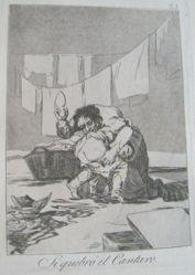 Si quebró el cantaro. (Yes He Broke the Pot.), pl. 25 from the series Los caprichos