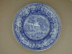 Soup Plate with a View of a Ferry between Albany and Rensselaer Island, New York
