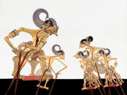 Shadow Puppet (Wayang Kulit) of Tangsen or Sahadeva, from the consecrated set Kyai Nugroho