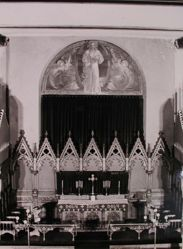Interior view of 1905 mural painted by Katherine S. Dreier at St. Paul's School -- view closer up