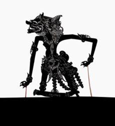 Shadow Puppet (Wayang Kulit) of Ditya Anggisrana, from the consecrated set Kyai Nugroho