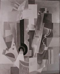 "Photograph of Pablo Picasso's ""Music""-- from Katherine S. Dreier's private collection"