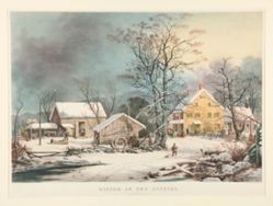 Winter in the Country./ A cold morning