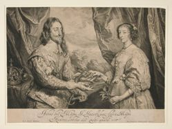 Charles I, King of England and his wife Henrietta Maria