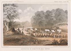 Distribution of Goods to the Gros Ventres, pl. 21 of the U.S.P.R.R. Expedition and Surveys, 47-49 parallels