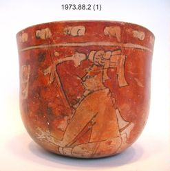 Bowl with Seated Figures and Glyphs