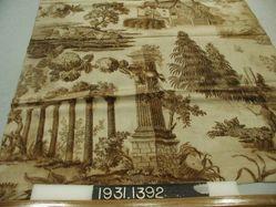 "Length of printed linen, ""Rural scenes"""