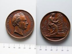 Bronze Medal from Belgium Honoring H. W. Frère-Orban, Minister of Finance