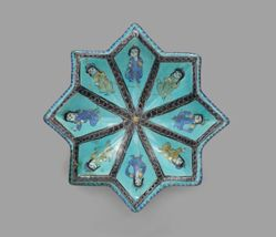 Star-Shaped Dish with Figures