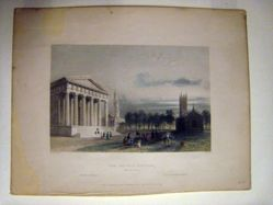 The Gothic Church (New Haven), illustration for Nathaniel Parker Willis's book American Scenery