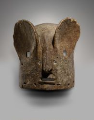 Helmet Mask Representing a Hare