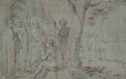 Christ Healing the Blind man (recto), Venus and Cupid (verso)