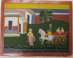 Krishna Returns His Child to His Guru, from a History of the Lord (Bhagavata Purana) manuscript