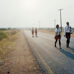 Road divide Gauteng and Northwest province, Hamaskraal, former Bophuthaswana
