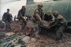 Evacuation of wounded, 1966, from the series: Larry Burrows: Vietnam, The American Intervention 1962 - 1968