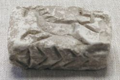 Brick-Shaped Mould with Incised Decoration