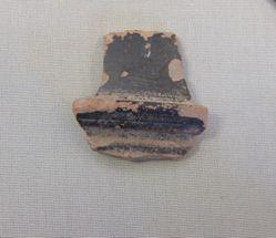 Black glazed pyxis fragment