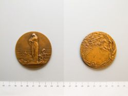 "Belgian WW I Medal: ""L'Oeuvre des Barbares"" (""The Work of the Barbarians"")"