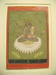 Siva and Parvati (illustration from a Tantric text)