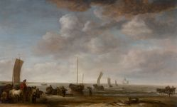 Fisherfolk and Other Figures on a Beach