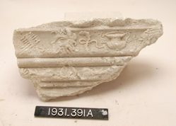Fragment of relief-decorated molding with Dionysiac motifs