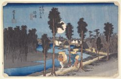 Numazu, Yellow Dusk from the series Fifty-three Stations of the Tokaido