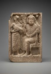 Cult relief of Zeus Kyrios-Baalshamin