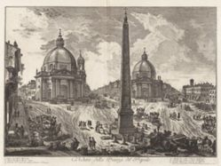 Veduta della Piazza del Popolo (View of the Piazza del Popolo), from Vedute di Roma (Views of Rome)