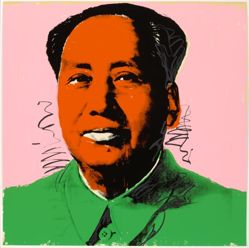Mao, in a portfolio of ten: Orange face