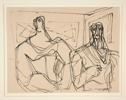 Untitled (two figures in a gallery)