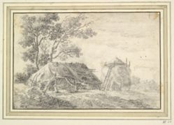 Barn and haystack