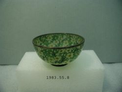 Plique-a-jour bowl with prunus decoration