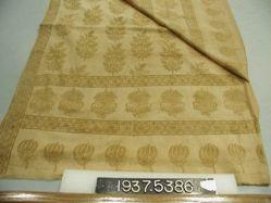 Sari of block printed plain cloth