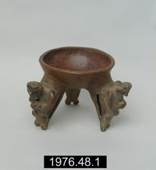 Bowl with tripod effigy supports