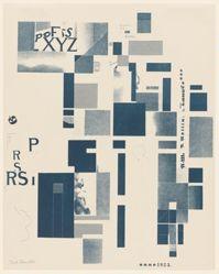 Untitled, no. 3 of 6 from the portfolio Merz 3. Kurt Schwitters 6 Lithos. Merz Mappe. Erste Mappe des Merzverlages (Merz 3. Kurt Schwitters 6 Lithos. Merz Portfolio. First Portfolio of the Merz Publisher)