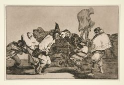 Disparate de carnabal (Carnival Folly), pl. 14 from the series Los proverbios