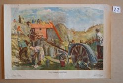 s/khoz. Kommuna Molot'ba (Threshing on the Communal Farm