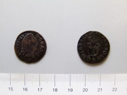 1 Liard of Louis XV, King of France from Aix