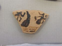 Sherd with palmette design