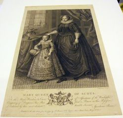 Portrait of a lady and her son; falsely called Mary Queen of Scots (1542-1587)