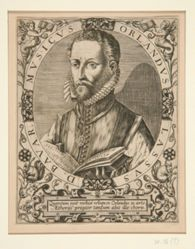 """Portrait of Orlando Lassus, from J.J. Boissard, """"Theatrum vitae humanum"""", c.1596"""