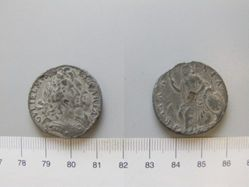 Halfpenny of William III, King of England; Queen Mary II from London