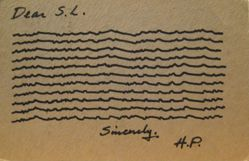 Postcard correspondence from Henry Pearson to Sol LeWitt